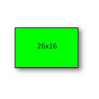 Etiquetas de Rolo 26x16mm Com 1000 Verde Fluorescente