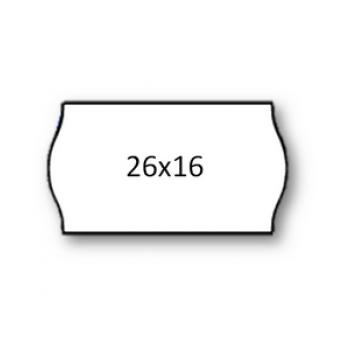 Etiquetas de Rolo 26x16 mmW Com 1000 Permanente Branca