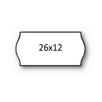 Etiquetas de Rolo 26x12mm Com 1500 Permanente Branca