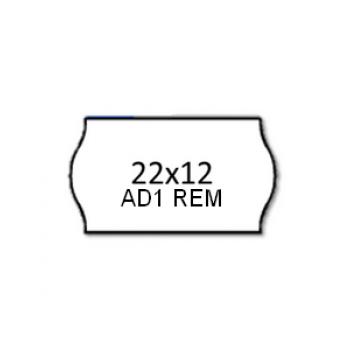 Etiquetas de Rolo 22x12mm Com 1500 Removível Branca