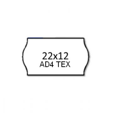 Etiquetas de Rolo 22x12mm Com 1500 Têxteis Branca