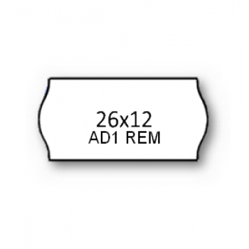 Etiquetas de Rolo 26x12mm Com 1500 Removíveis Branca