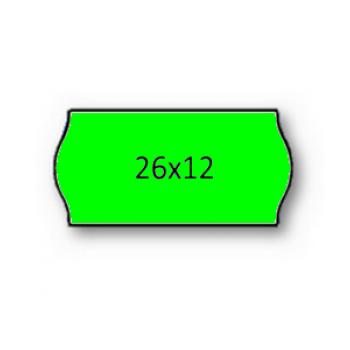 Etiquetas de Rolo 26x12mm Com 1500 Verde Fluorescente