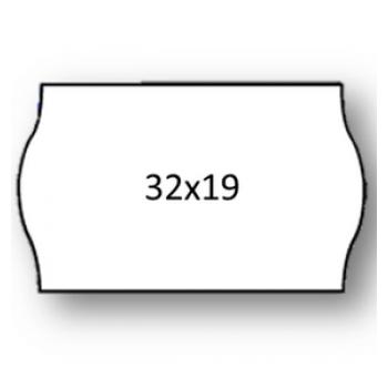 Etiquetas de Rolo 32x19mm Com 1000 Cantos Redondos Branca