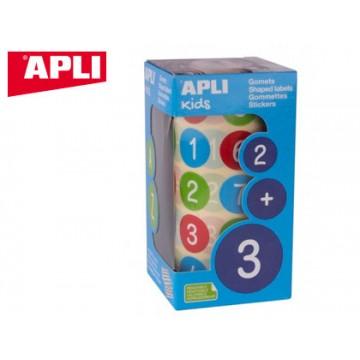 Etiquetas Auto Adesivas Circulares Números Multicolor Rolo Apli