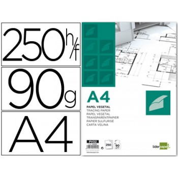 Papel vegetal A4 90gr 250 Folhas