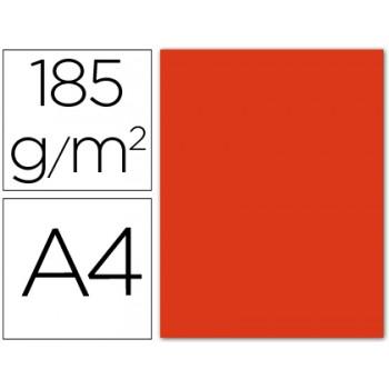 Cartolina A4 185Grs Vermelho 50 Unidades