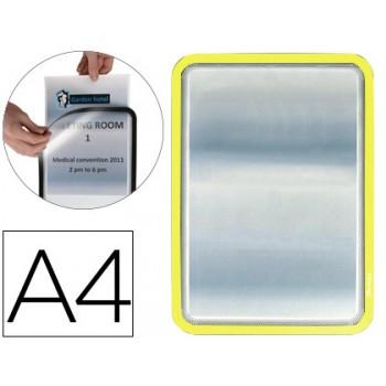 Moldura Porta Anúncios Magnética A4 Tarifold Amarelo - 2 Unidades
