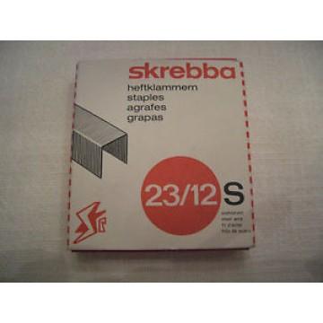 Agrafos 23/12mm Caixa com 1000 Skrebba (60/ 90 Folhas)