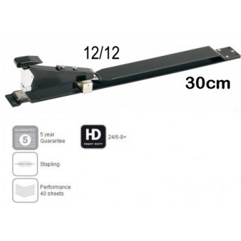 Agrafador Longo 40 Folhas HD 12-12 heavyduty preto