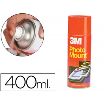 Cola Spray Mount Photo Permanente 400ml 3M