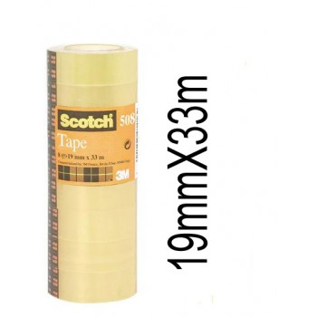 Fita Adesiva 19mmx33mts Transparente Scotch 508