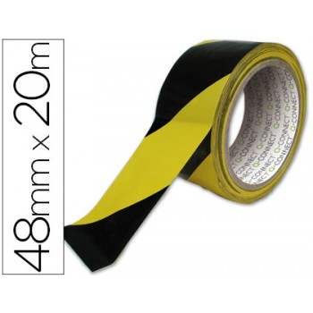 Fita Adesiva De Segurança 48mmx20mts Amarela e Preta 6 unidades