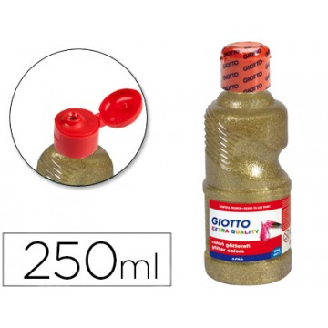 Cola Purpurina 250ml Glitter Glue Giotto Ouro