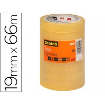 Fita Adesiva 19mmx66mts Transparente Scotch 508 - 8 Unidades