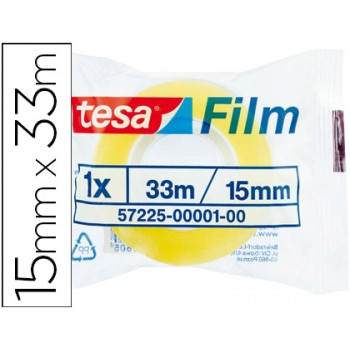 Fita Adesiva 15mmx33mts Transparente Tesa -1 Unidade