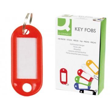 Porta Chaves com etiqueta plástico Vermelho