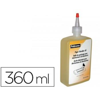 Óleo lubrificante para Destruidoras de Papel Fellowes 360ml