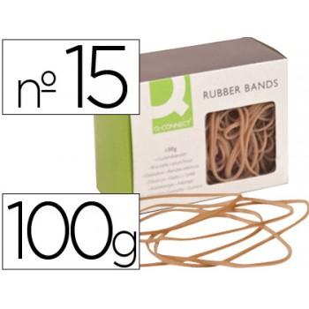 Elásticos Caixa 100Gr 150X1.5mm Q-Connect Nº15