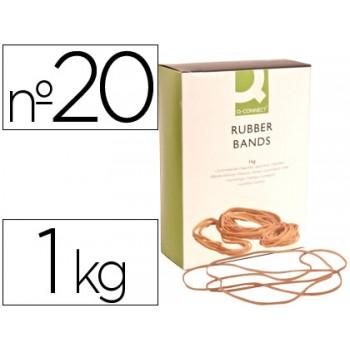 Elásticos Nº20 Caixa 1Kg 200X1.5mm Q-Connect