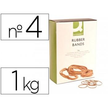 Elásticos Nº4 Caixa 1Kg 40X1.5mm Q-Connect
