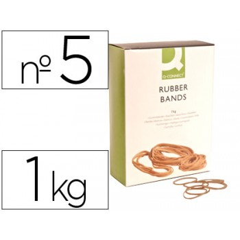 Elásticos Nº5 Caixa 1Kg 50X1.5mm Q-Connect
