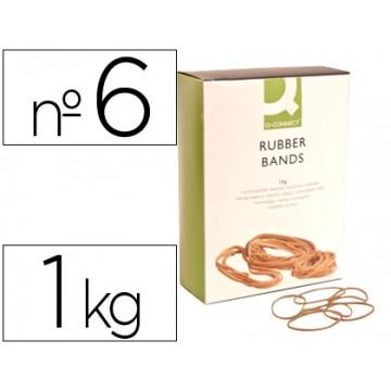 Elásticos Nº6 Caixa 1Kg 60X1.5mm Q-Connect