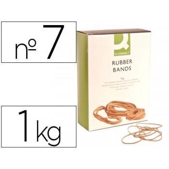 Elásticos Nº7 Caixa 1Kg 70X1.5mm Q-Connect
