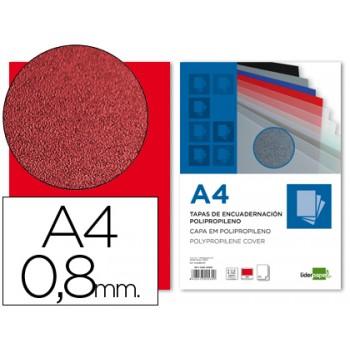 Capa de Encadernação A4 PP 800 Microns Vermelho 50 unidades