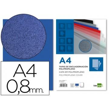 Capa De Encadernação A4 PP 800 Microns Azul 50 Unidades