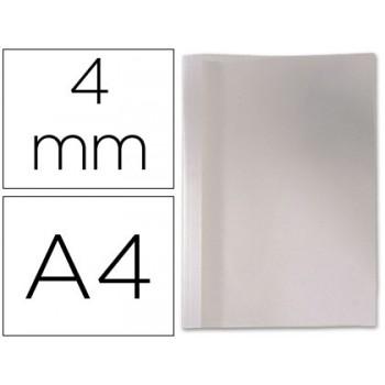 Capa Térmica De Encadernação Pvc + Cartolina Lombada 4mm Branca
