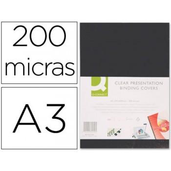 Capa De Encadernação A3 Pvc Opaca Preta 200 Microns 100 Unidades