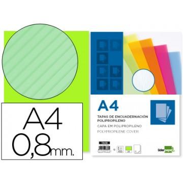 Capa de Encadernação A4 PP Ondulada 800 Microns Verde 50 Unidades