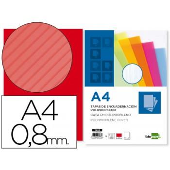 Capa de Encadernação A4 PP Ondulada 800 Microns Vermelho 50 Unidades