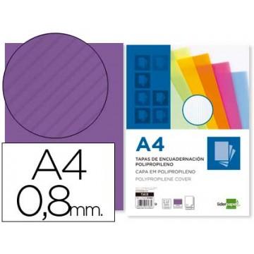 Capa de Encadernação A4 PP Ondulado 800 Microns Violeta 50 Unidades