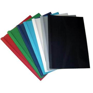 Capa Térmica De Encadernação Pvc + Cartolina Lombada 4mm Verde