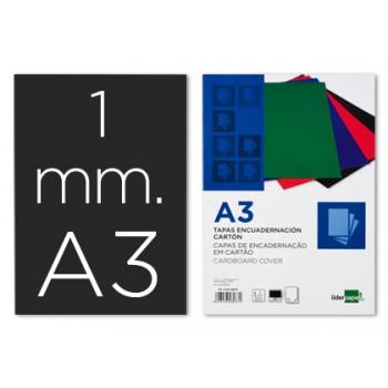 Capa De Encadernação A3 Cartão 1mm Preta 50 Unidades