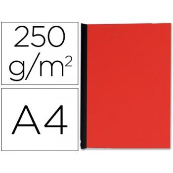 Capa De Encadernação A4 250gr Imitação Pele Vermelha 100 Unidades