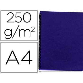 Capa De Encadernação A4 250gr Imitação Pele Azul Escuro 100 Unidades