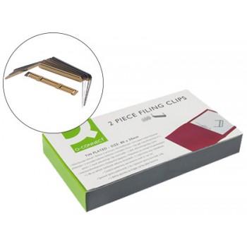 Encadernador Dourado Metálico caixa de 100 unidades