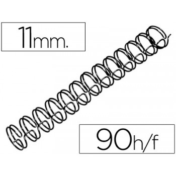 Espiral Metálica Passo 3:1 11 mm Preta (100 unidades)