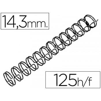 Espiral Metálica Passo 3:1 14.3 mm Preta (100 unidades)