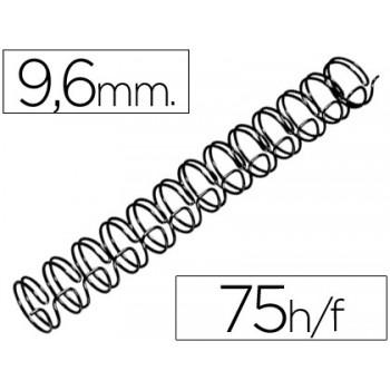 Espiral Metálica Passo 3:1 9,6 mm Preta (100 unidades)