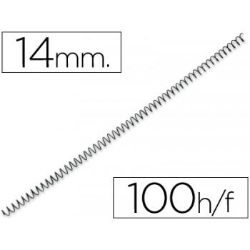 Espiral Metálica Passo 4:1 14 mm Preta (100 unidades)