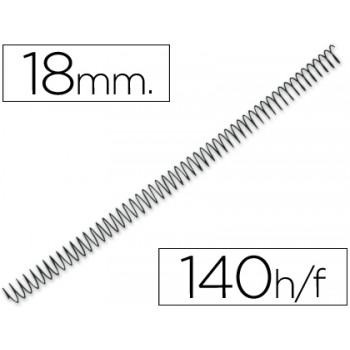 Espiral Metálica Passo 4:1 18 mm Preta (100 unidades)