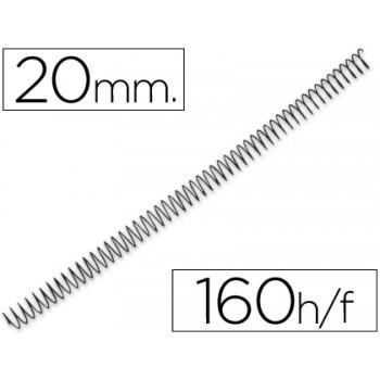 Espiral Metálica Passo 4:1 20 mm Preta (100 unidades)