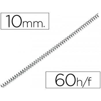 Espiral Metálica de Encadernação Passo 5:1 10 mm Preta (100 unidades)