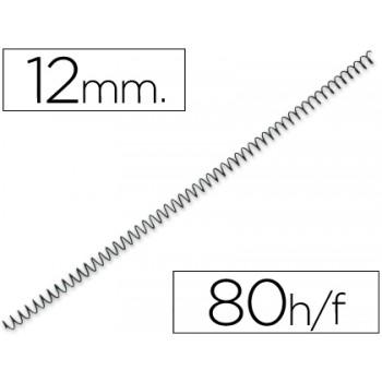 Espiral Metálica de Encadernação Passo 5:1 12 mm Preta (100 unidades)