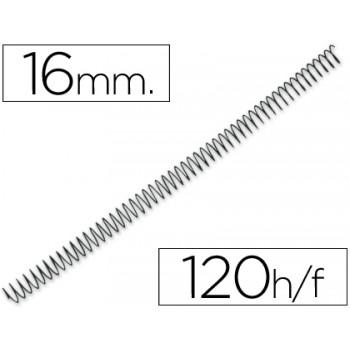 Espiral Metálica de Encadernação Passo 5:1 16 mm Preta (100 unidades)