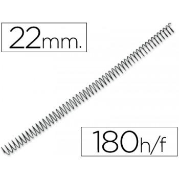 Espiral Metálica de Encadernação Passo 5:1 22 mm Preta (100 unidades)